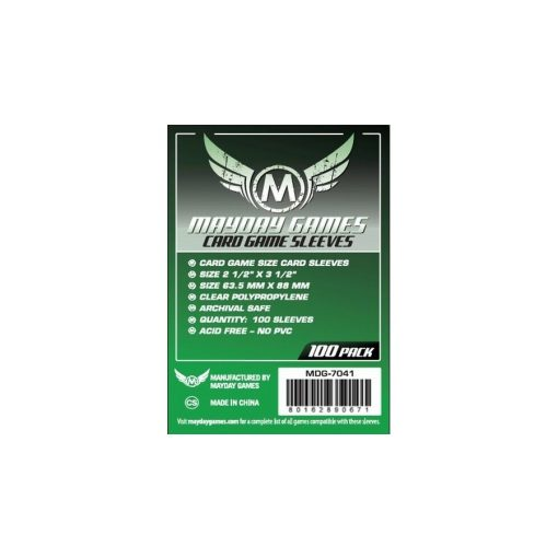 Mayday Kártyavédő 63,5x88mm 100db/csomag
