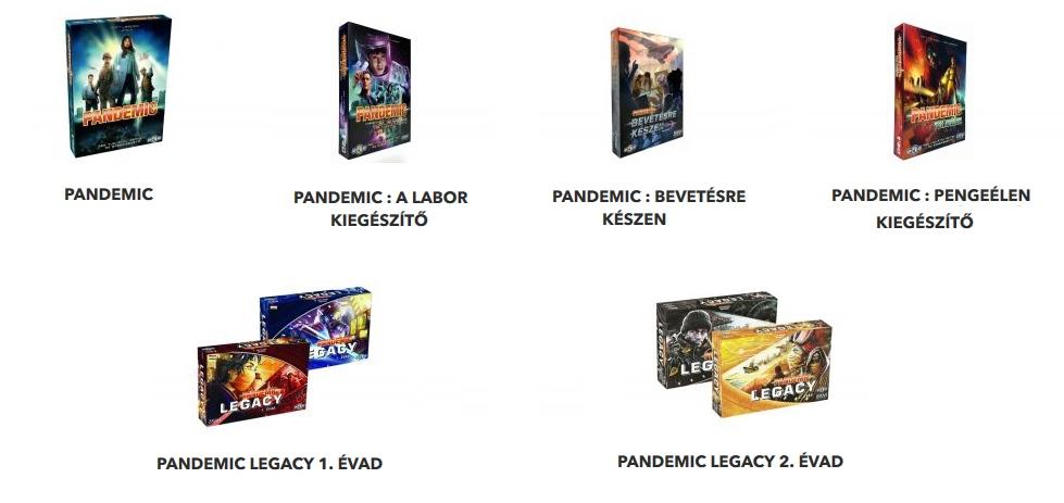 Pandemic társasjátékok